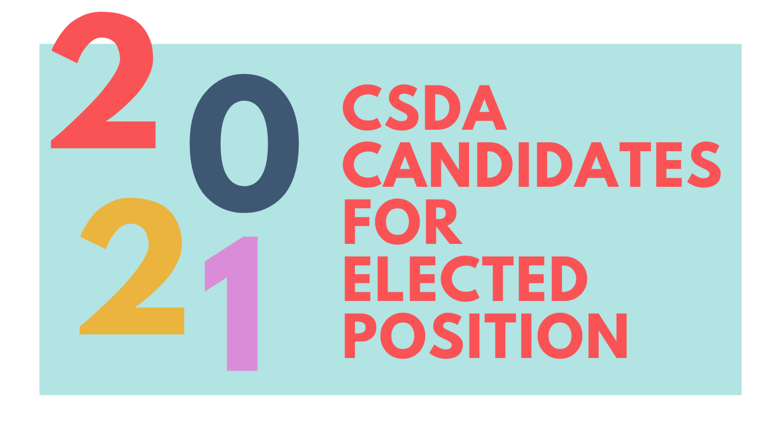 Candidates for Elected Position